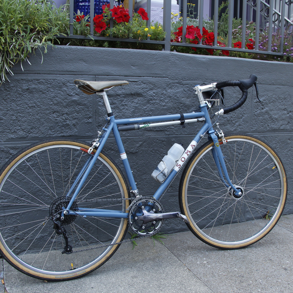 Soma Pescadero Frameset Blue build
